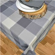 Rans - Dobby Check Tablecloth Smokey Grey 150x300cm