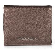 Fedon - Amelia Bottalato Wallet Metallic Beige