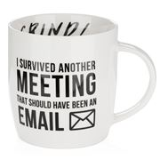 AT - I Survived Another Meeting Coffee Mug