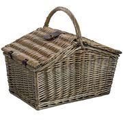 Satara - Sorrento Four Person Picnic Basket Green