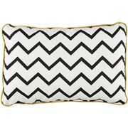 Nobodinoz - Jack Cushion Zig Zag Black