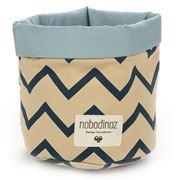 Nobodinoz - Mambo Basket Small Blue Zig Zag