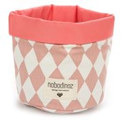 Nobodinoz - Mambo Basket Small Pink Diamonds