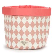 Nobodinoz - Mambo Basket Large Pink Diamonds