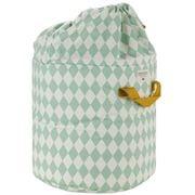 Nobodinoz - Baobab Toy Bag Small Green Diamonds