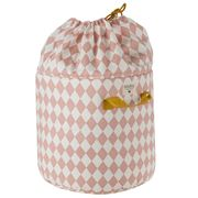 Nobodinoz - Baobab Toy Bag Small Pink Diamonds