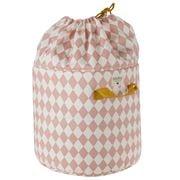 Nobodinoz - Baobab Toy Bag Small Pink Diamonds