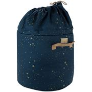 Nobodinoz - Bamboo Toy Bag Small Gold Stella/Night Blue