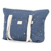 Nobodinoz - Paris Maternity Bag Gold Stella/Night Blue