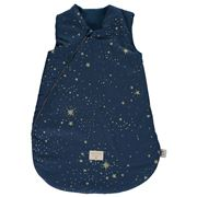 Nobodinoz - Cocoon Sleeping Bag Small Gold Stella/Night Blue