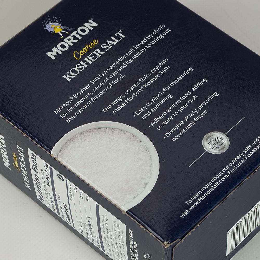 Morton - Coarse Kosher Salt 1 36kg   Peter's of Kensington