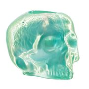 Kosta Boda - Still Life Skull Votive Holder Light Green