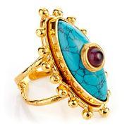 Sylvia Toledano - Third Eye Turquoise & Amethyst Ring