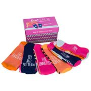 AT - Funky Feet Girl Talk Socks Set of 6