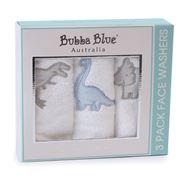 Bubba Blue - Jurassic 3pk Face Washer
