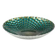 Anya - Plume Peacock Green Bowl 33cm