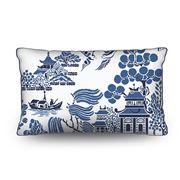 Stuart Membery Home - Pagoda Storm Blue Lumbar Cushion