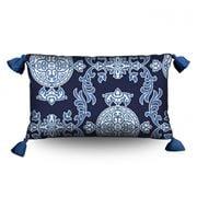 Stuart Membery Home - Mahjong Storm Blue Lumbar Cushion