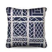 Stuart Membery Home - Trellis Storm Blue Cushion