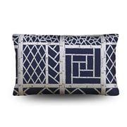 Stuart Membery Home - Trellis Storm Blue Lumbar Cushion