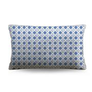 Stuart Membery Home - Wicker Cruise Blue Lumbar Cushion