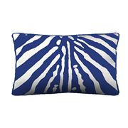 Stuart Membery Home - Zebra China Blue Lumbar Cushion