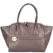 Fedon - Amelia Handbag Bottalato Metallic Beige