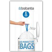 Brabantia - Pedal Bin Plastic Liners E 40 x 20L