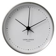 Georg Jensen - Koppel Clock White with Steel Border 15cm
