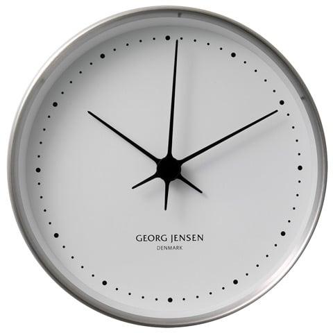 georg jensen koppel blue clock 22cm peter 39 s of kensington. Black Bedroom Furniture Sets. Home Design Ideas