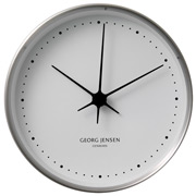 Georg Jensen - Koppel Clock White with Steel Border 22cm