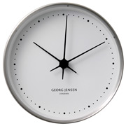 Georg Jensen - Koppel Clock White with Steel Border