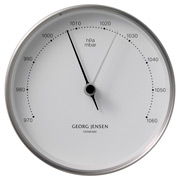 Georg Jensen - Koppel Barometer White with Steel Border