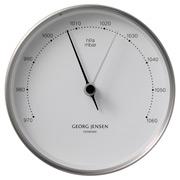 Georg Jensen - Koppel Barometer White with Steel Border