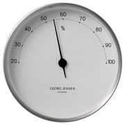 Georg Jensen - Koppel Hygrometer White with Steel Border