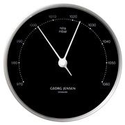 Georg Jensen - Koppel Barometer Black with Steel Border