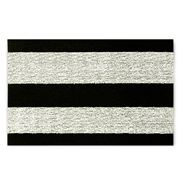 Chilewich - Bold Stripe Black & White Indoor/Outdoor Mat Sml