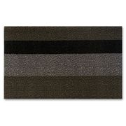 Chilewich - Bold Stripe Shag Doormat Small Silver & Black