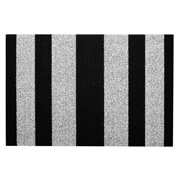 Chilewich - Bold Vertical Stripe Shag Doormat Black & White