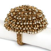 Kim Seybert - Bead Burst Gold Oval Napkin Ring