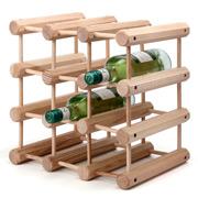 JK Adams - Wooden Wine Rack for 12 Bottles