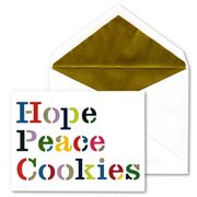 Kate Spade - Hope Peace Cookies Christmas Cards