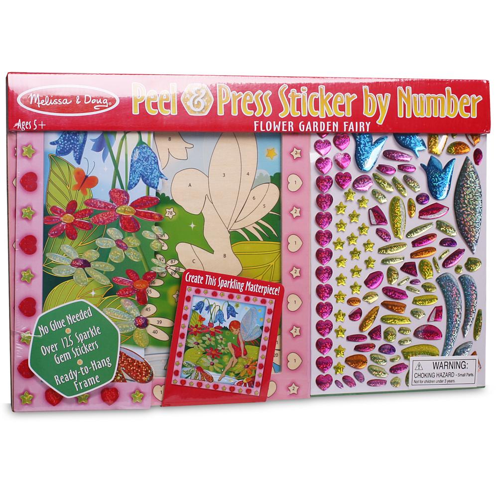 Melissa Doug Sticker By Number Flower Garden Fairy