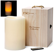 RSC - Designer Collection Ivory Pillar Candle 3XL