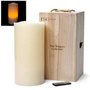 RSC - Designer Collection Ivory Pillar Candle 4XL