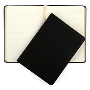 Graphic Image - Black Leather Medium Travel Journal