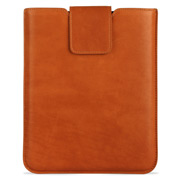 Graphic Image - British Tan Leather iPad Sleeve with Clasp
