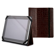 Graphic Image - Brown Crocodile Leather iPad Holder