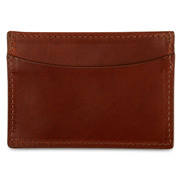 Graphic Image - Brown Leather Slim Design Card Case