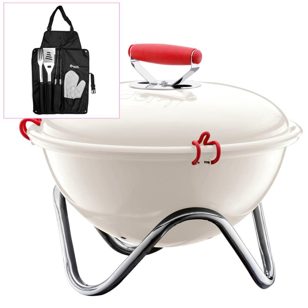 bodum fyrkat white barbeque grill barbeque use 239855. Black Bedroom Furniture Sets. Home Design Ideas
